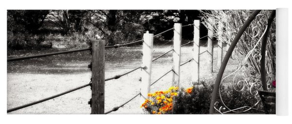 Fence Near The Garden Yoga Mat