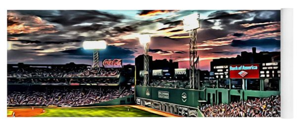 Fenway Park At Sunset Yoga Mat