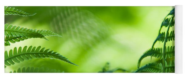 Fern Leaves. Healing Art Yoga Mat
