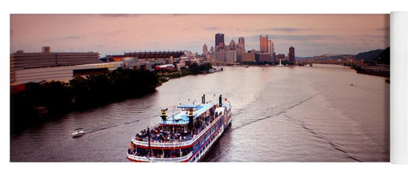 Ferry Boat At The Point In Pittsburgh Pa Yoga Mat