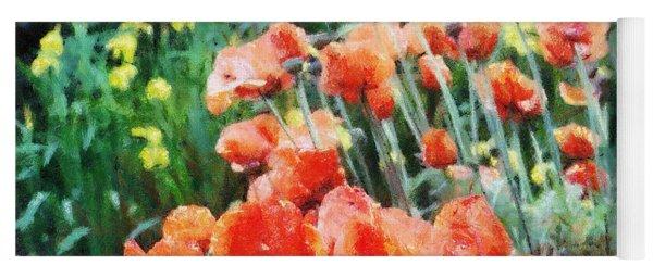 Field Of Flowers Yoga Mat