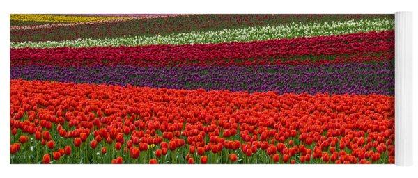 Field Of Tulips Yoga Mat