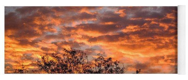 Fiery Sunrise Over County Clare Yoga Mat