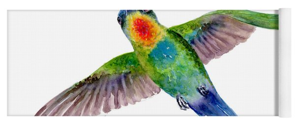 Fiery-throated Hummingbird Yoga Mat