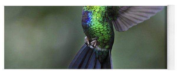 Fiery-throated Hummingbird..  Yoga Mat