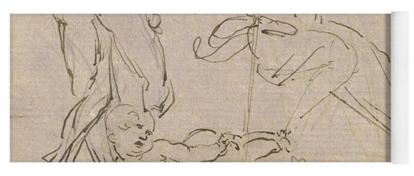 Figural Study For The Adoration Of The Magi Yoga Mat
