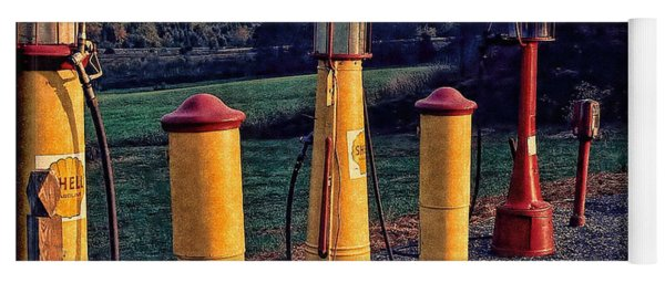 Fill 'er Up Vintage Fuel Gas Pumps Yoga Mat