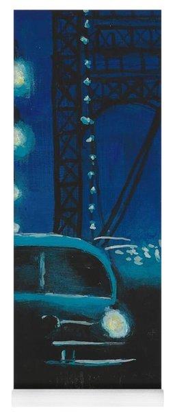 Film Noir In Blue #1 Yoga Mat