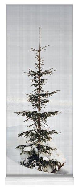 Fir Tree And Lots Of Snow In Winter Kleinwalsertal Austria Yoga Mat