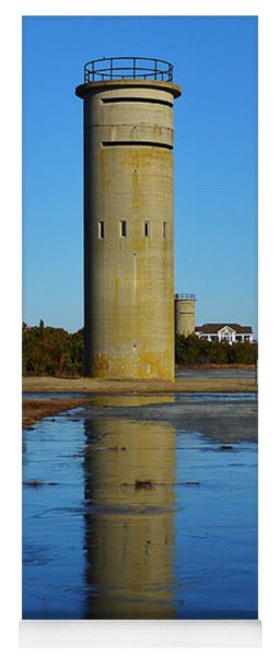 Fire Control Tower 3 Icy Reflection Yoga Mat
