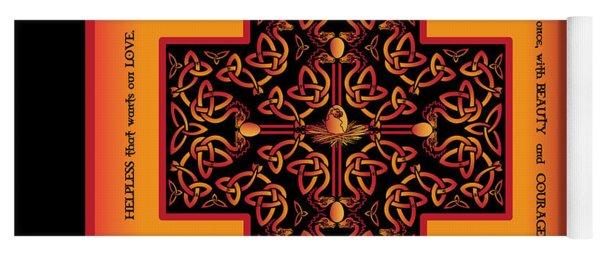 Fire Dragon Celtic Cross Yoga Mat