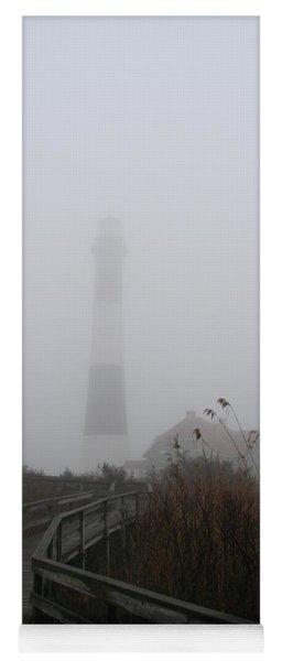 Fire Island Lighthouse In Fog Yoga Mat