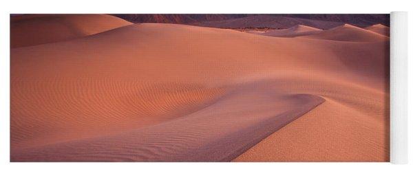 Fire On Mesquite Dunes Yoga Mat