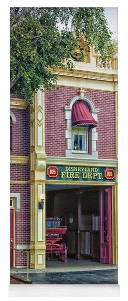 Fire Station Main Street Disneyland 01 Yoga Mat
