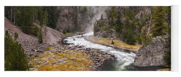 Firehole Canyon - Yellowstone Yoga Mat