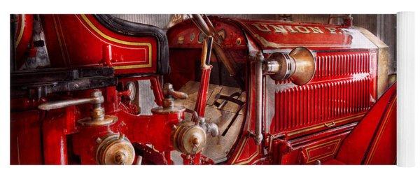 Fireman - Truck - Waiting For A Call Yoga Mat