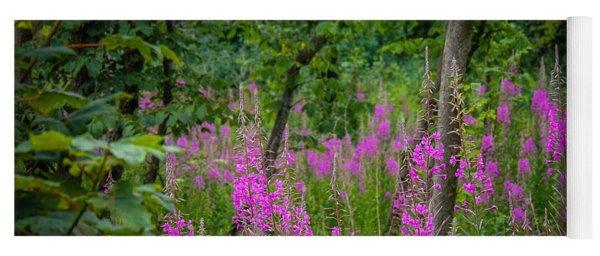 Fireweed In The Irish Countryside Yoga Mat