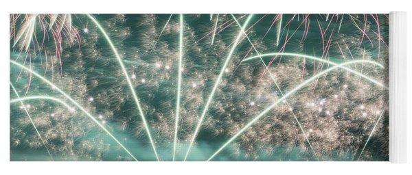 Fireworks And Aircraft Yoga Mat