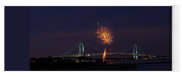 Fireworks On Staten Island South Beach Yoga Mat