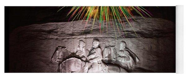 Fireworks Over Stone Mountain Yoga Mat