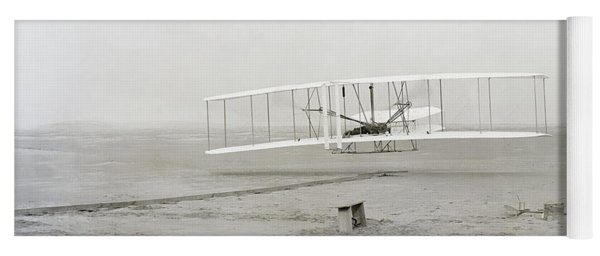 First Flight Captured On Glass Negative - 1903 Yoga Mat