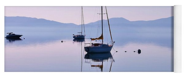 First Light Lake Tahoe  Yoga Mat