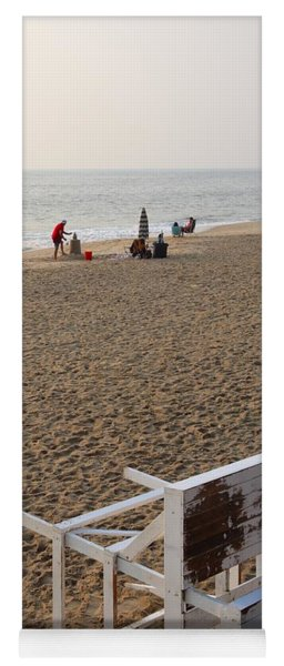 First On The Beach At Bethany Beach In Delaware Yoga Mat