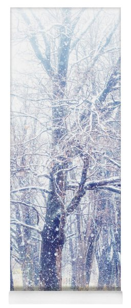 First Snow. Dreamy Wonderland Yoga Mat