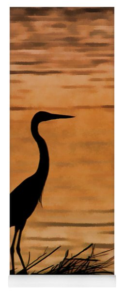 Fishing At Sunset Yoga Mat