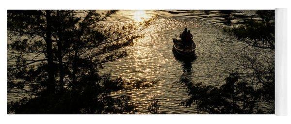 Fishing At Sunset - Thousand Islands Saint Lawrence River Yoga Mat