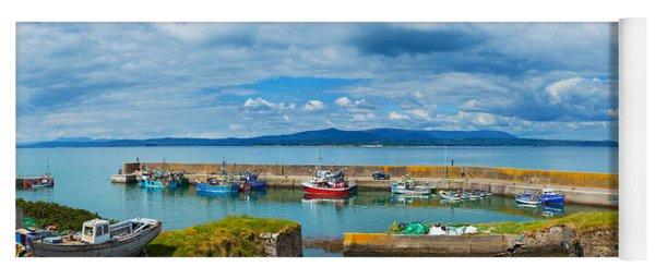 Fishing Boats At A Harbor, Helvick Yoga Mat