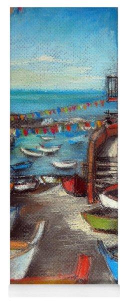Fishing Boats In Riomaggiore Yoga Mat