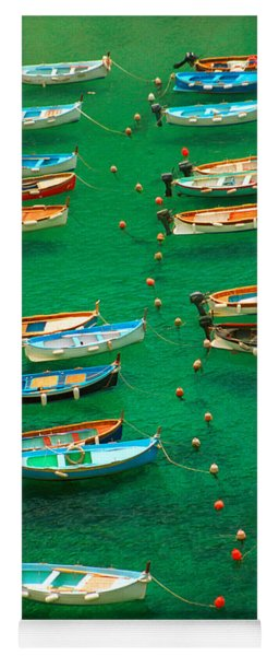 Fishing Boats In Vernazza Yoga Mat