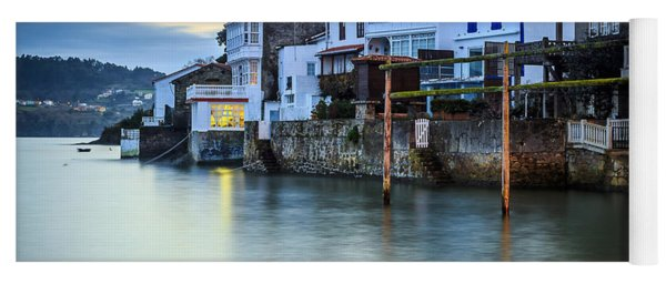 Fishing Town Of Redes Galicia Spain Yoga Mat