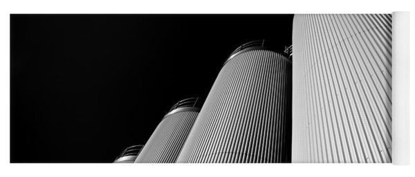 Five Silos In Black And White Yoga Mat