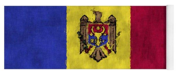 Flag Of Moldavia Yoga Mat