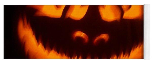 Flame Pumpkin Yoga Mat