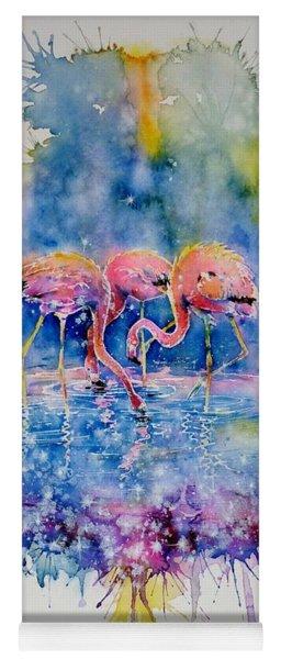 Flamingo Glare Yoga Mat