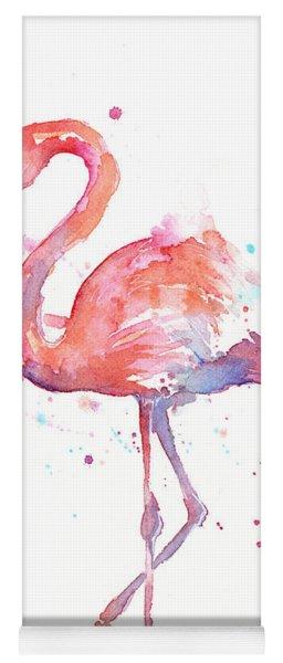 Flamingo Watercolor Yoga Mat