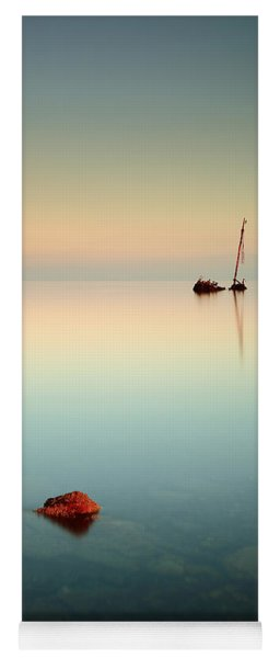 Flat Calm Shipwreck Sunrise Yoga Mat