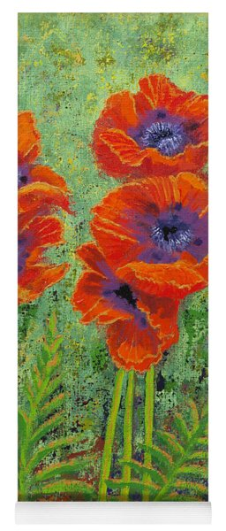 Fleurs Des Poppies Yoga Mat