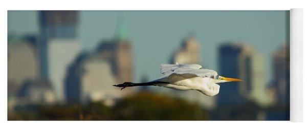 Flight Of The Great Egret Yoga Mat