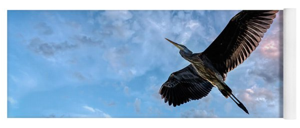 Flight Of The Heron Yoga Mat