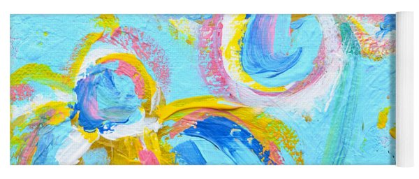 Abstract Flowers Silhouette No 16 Yoga Mat