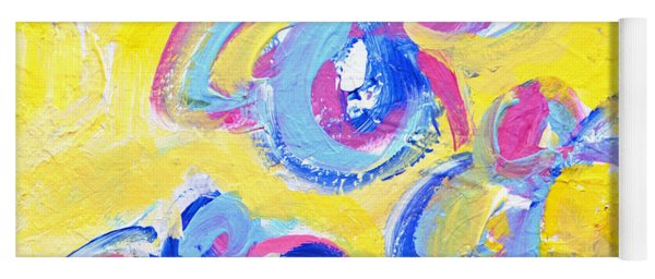 Abstract Flowers Silhouette No 13 Yoga Mat