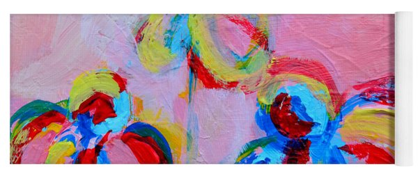 Abstract Flowers Silhouette No 11 Yoga Mat