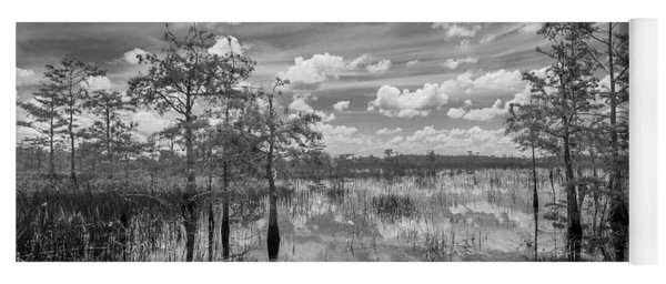 Florida Everglades 5210bw Yoga Mat