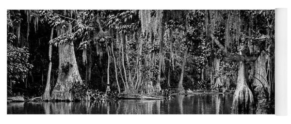 Yoga Mat featuring the photograph Florida Naturally 2 - Bw by Christopher Holmes