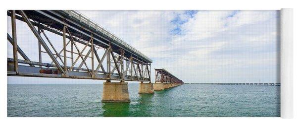 Florida Overseas Railway Bridge Near Bahia Honda State Park Yoga Mat