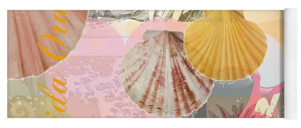Florida Seashells Collage Yoga Mat